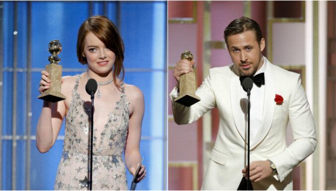 'La La Land' ar septiņām godalgām triumfē 'Zelta globusu' ceremonijā