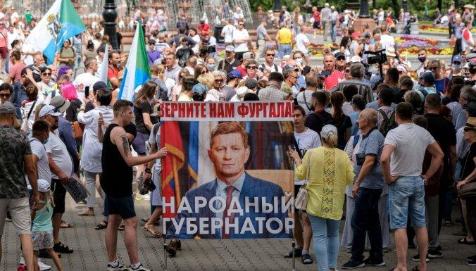 Жители Хабаровска выступили в поддержку Фургала 39-й день подряд