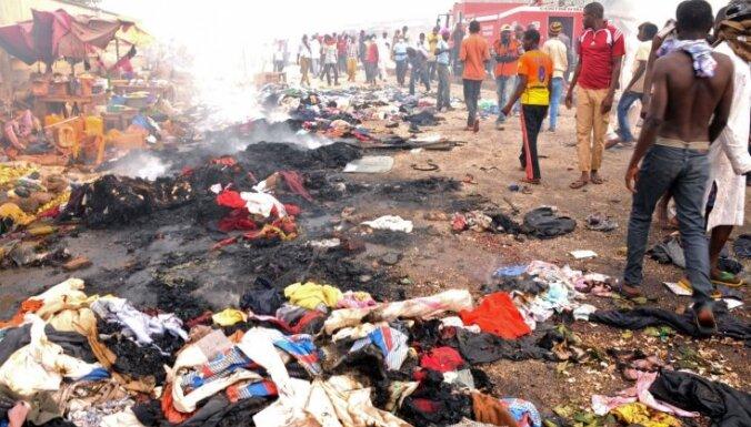Nigērijā sprādzienos tirgū un pie slimnīcas gājuši bojā vairāk nekā simts cilvēki