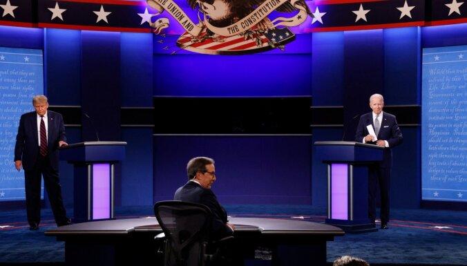 Tramps un Baidens pirmajās debatēs apmainās personīgiem apvainojumiem