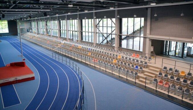 Foto: Jāņa Daliņa stadiona pārbūve finiša taisnē