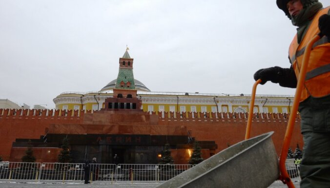 Белорусский пенсионер облил краской Мавзолей Ленина на Красной площади