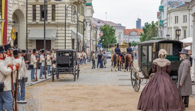 ФОТО: В Вильнюсе и Риге снимают сериал о баварской принцессе Сиси