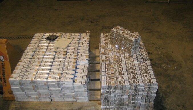 VID dažās dienās izķer 141 500 nelegāli ievestas cigaretes