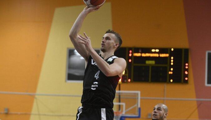 'VEF Rīga' Latvijas basketbola līderu duelī pieveic 'Ventspili'