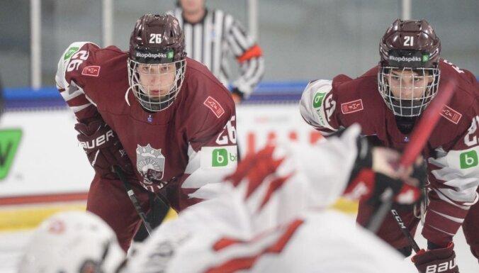Сборная Латвии оказала достойное сопротивление канадцам на юниорском чемпионате мира