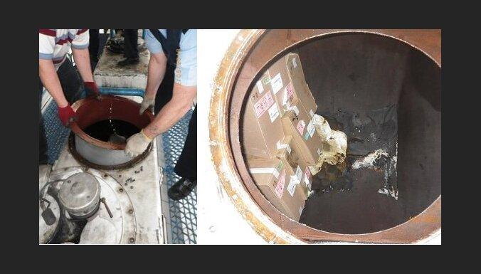 Cisternā ar rapšu eļļu uziet kontrabandas cigaretes