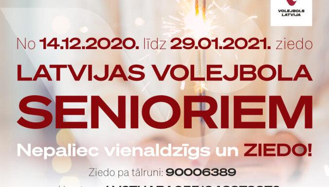 'Nepaliec vienaldzīgs un ziedo' – labdarības akcija Latvijas volejbola veterāniem
