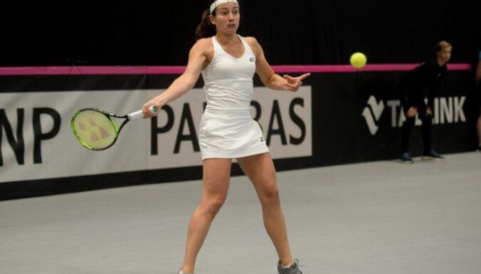 Sevastova pārvar nogurumu un uzvar Dohas WTA turnīra pirmās kārtas spēlē