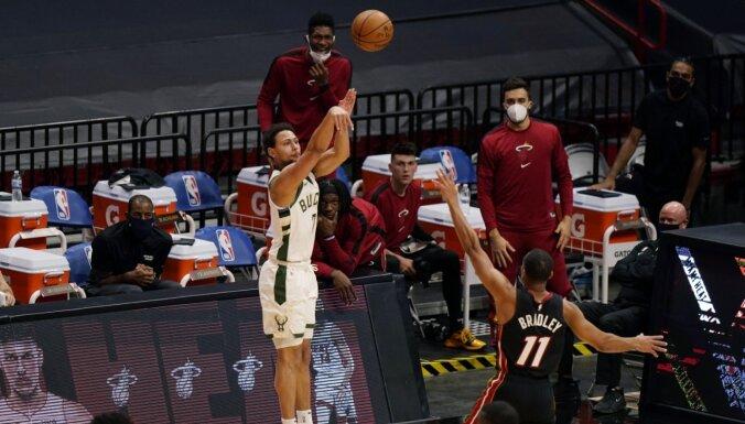 'Bucks' vienība uzstādījusi jaunu NBA trīspunktnieku rekordu