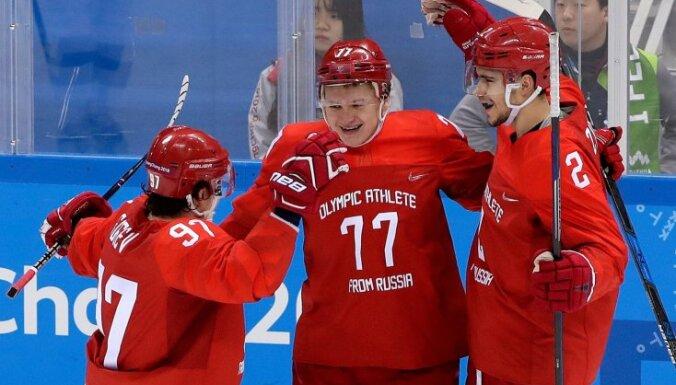 Российские хоккеисты забросили Словении восемь шайб, у Капризова — хет-трик
