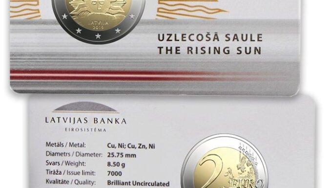 Latvijas Banka laiž apgrozībā 2 eiro piemiņas monētu 'Uzlecošā saule'
