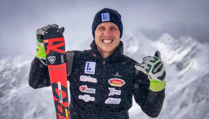 Kalnu slēpotājam Mikam Zvejniekam sezonas labākais rezultāts FIS punktos slalomā