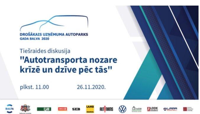 Tiešraides diskusija 'Autotransporta nozare krīzē un dzīve pēc tās' 26. novembrī plkst. 11.00