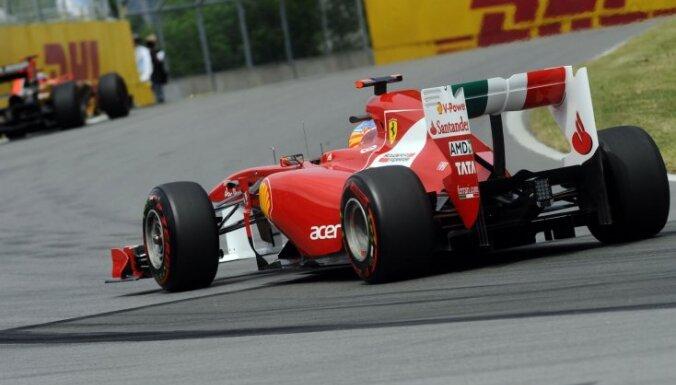 Alonso vēl neuzskata jauno 'Ferrari' formulu par konkurētspējīgu
