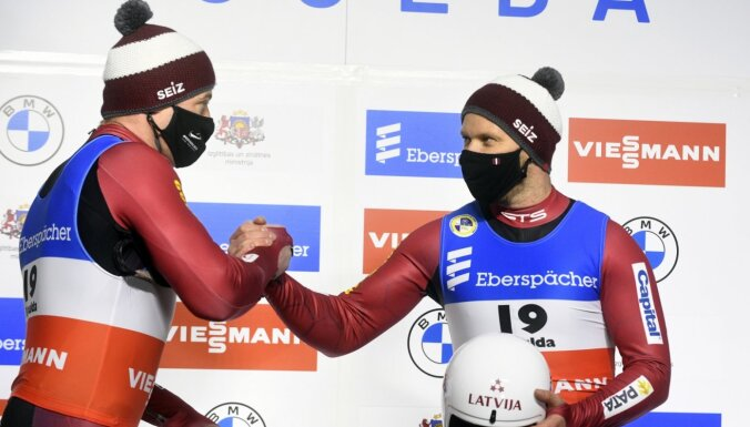 Kamaniņu braucēji Šici kļūst par pasaules vicečempioniem sprintā