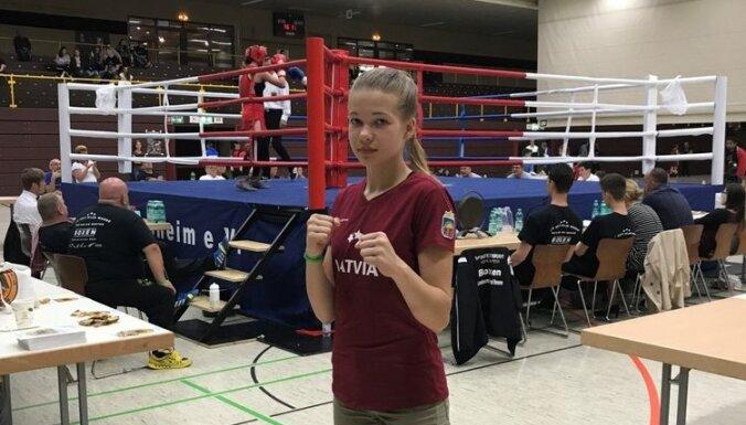 Молодая латвийская боксерша дошла до финала на турнире в Германии