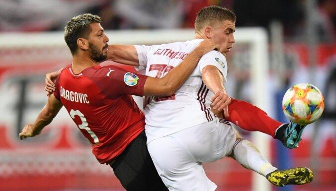 Latvijas futbolisti noslēdz katastrofālo 'Euro 2020' atlases ciklu