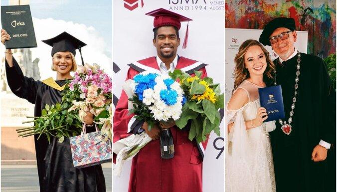 ФОТО: Как латвийские знаменитости отметили выпускные