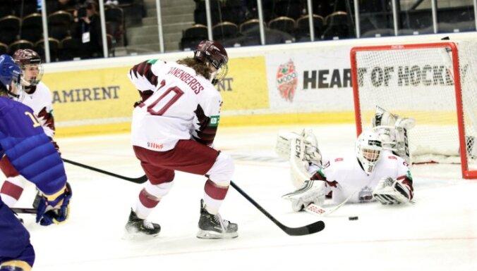 Сборная Латвии U-18 дала бой канадцам в четвертьфинале чемпионата мира