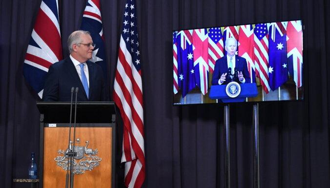 Austrālija jaunā partnerībā ar ASV un Lielbritāniju iegūs kodolzemūdenes