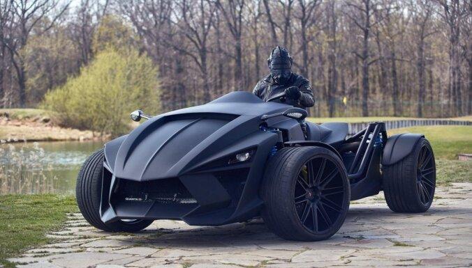 Ukrainā izstrādāts kvadricikla un automobiļa hibrīds ar superauto dinamiku