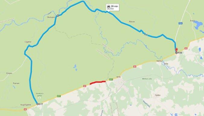 Тяжелая авария на Сигулдском шоссе: двое погибших, ограничено движение (карта)