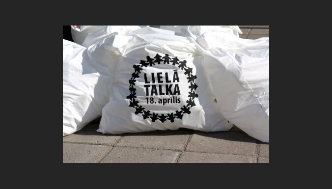 Lielajā talkā savākti ap 340 000 maisu ar atkritumiem