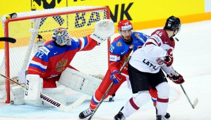 Сборная Латвии с сухим счетом проиграла сборной России в Москве на ЧМ