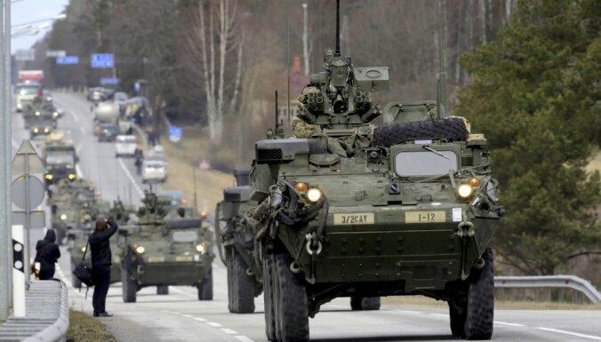 Latviju šķērsos Polijas armijas transporta kolonnas