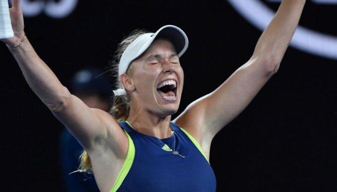 Vozņacki izcīna karjerā pirmo 'Grand Slam' turnīra uzvarētājas titulu