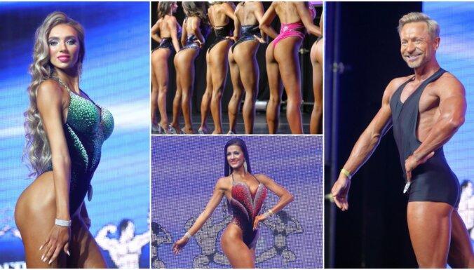 ФОТО: Мускулы, бикини, подтянутые тела. В Риге прошел чемпионат по фитнесу