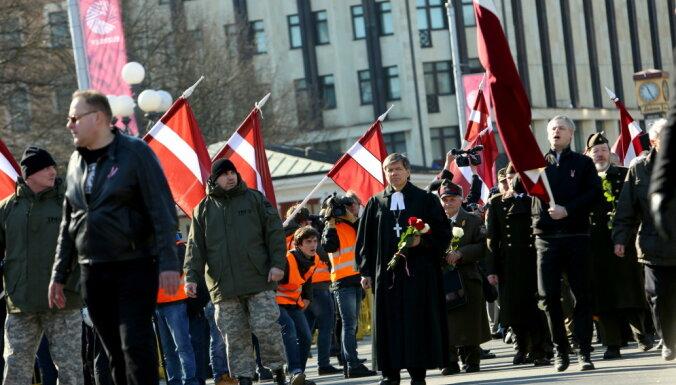 ВИДЕО: Что происходит в центре Риги 16 марта