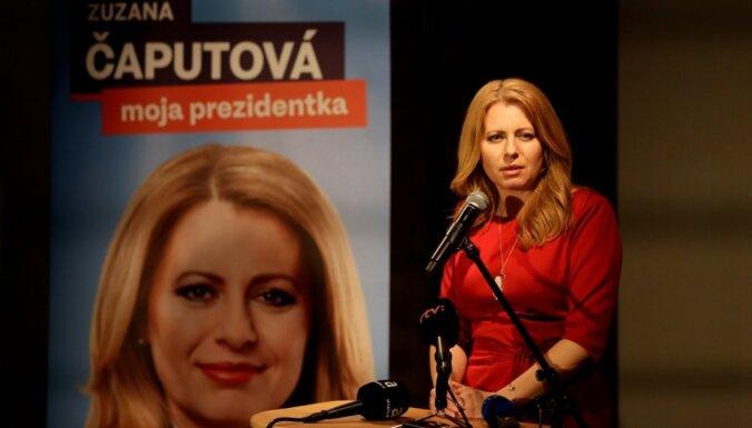 Slovākijas prezidenta vēlēšanu otrajā kārtā sacentīsies Čaputova un Šefčovičs