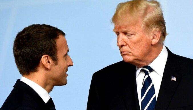 Makrons liedzis Trampa un Putina pilnformāta sarunas Parīzē