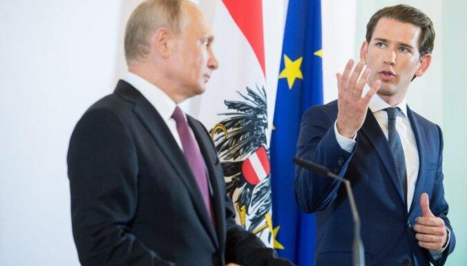 Канцлер Австрии Курц надеется на сближение ЕС и России