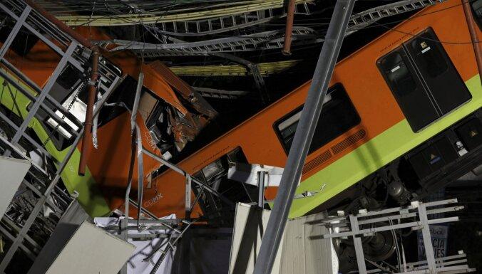 Mehiko sabrūkot metro tiltam, gājuši bojā vismaz 23 cilvēki