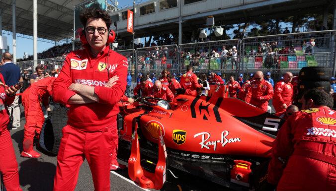 'Ferrari' ir sarūgtināta un dusmīga, saka komandas vadītājs