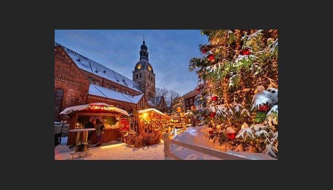 В воскресенье в Риге засияют рождественские елки
