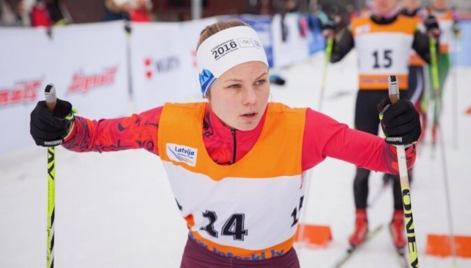 Olimpiete Eiduka triumfē Latvijas slēpošanas čempionāta sprintā