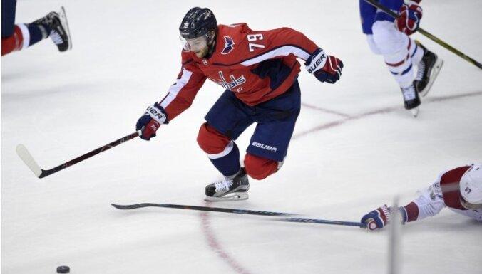 Austrālijas premjers telefoniski apsveicis 'Capitals' uzbrucēju Volkeru ar pirmajiem vārtiem NHL