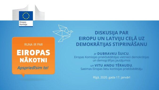 Diskusija 'Eiropa un Latvija ceļā uz demokrātijas stiprināšanu'. Video tiešraide