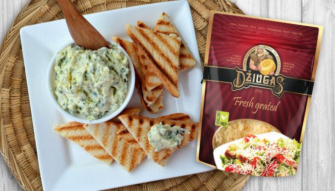Sviesta krēms ar cieto sieru – tostermaizēm un kartupeļiem