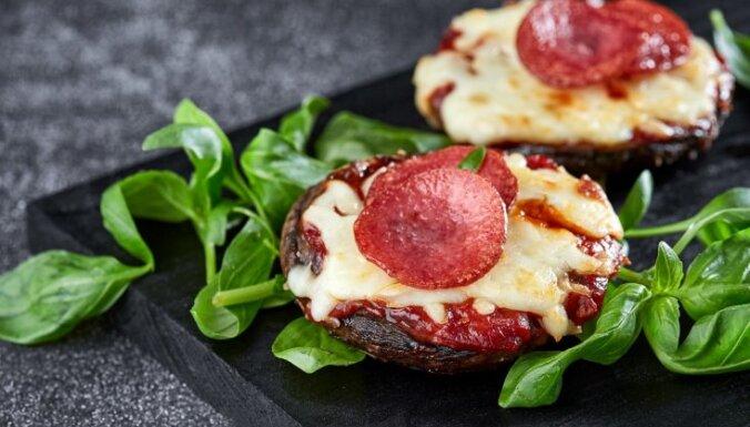 Portobello sēņu 'picas'
