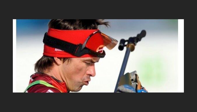 Ilmars Bricis 2010. gada Vankuveras olimpiskss speles, 15 km virietim. Vistlera, Kanada. 18.02.2010. Foto: Romans Koksharovs.