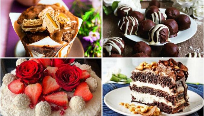 'Snickers', 'Mars', 'Bounty' un 'Rafaello': 10 receptes populāro saldumu izmantošanai