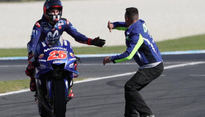 Vinjaless izcīnījis uzvaru Austrālijas 'MotoGP' posmā