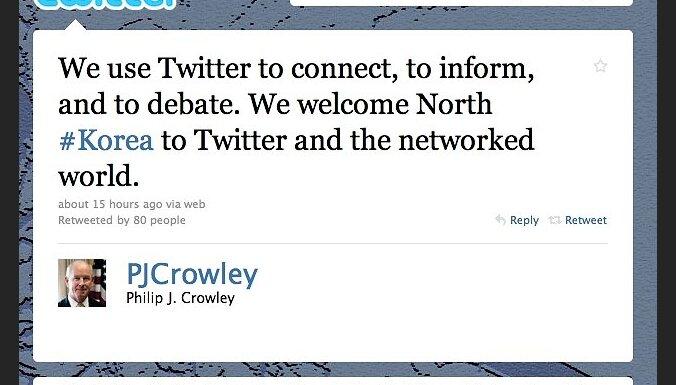 ASV sveic Ziemeļkoreju ar pievienošanos 'Twitter'