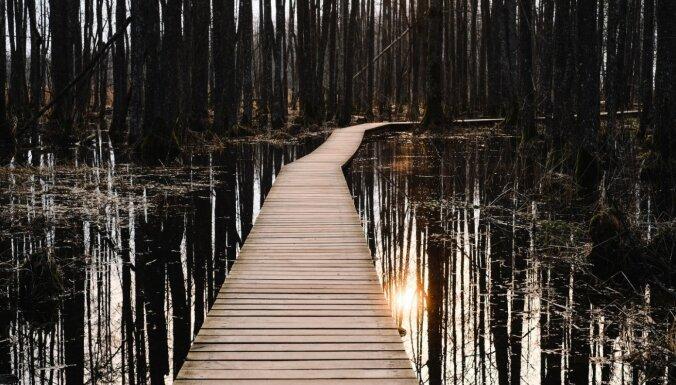 Slokas ezera taka, kur rīta agrumā izbaudīt mieru un klusumu