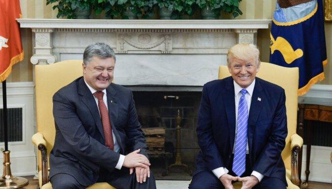 Трамп принял Порошенко в Белом доме